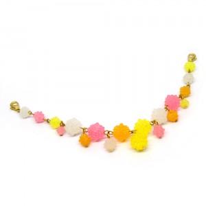 金平糖づくしの羽織紐(ブレスレット)ピンク1