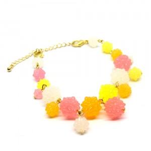 金平糖づくしの羽織紐(ブレスレット)ピンク2