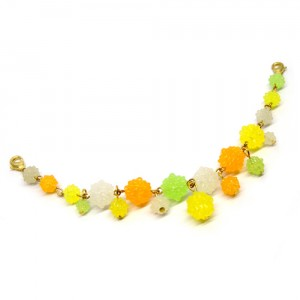 金平糖づくしの羽織紐(ブレスレット)緑1