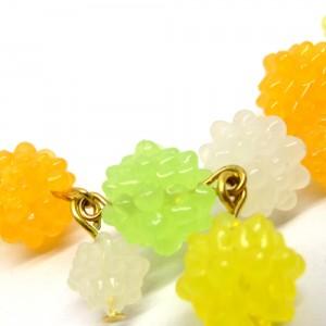 金平糖づくしの羽織紐(ブレスレット)緑2