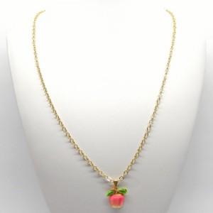 レトロフルーツのネックレス林檎2