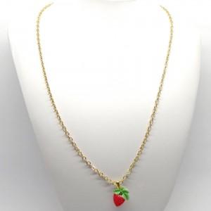レトロフルーツのネックレス苺2