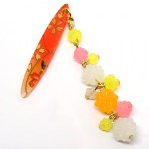 金平糖づくしの帯飾り桃1