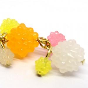 金平糖づくしの帯飾り桃2