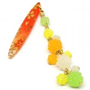 金平糖づくしの帯飾り緑1
