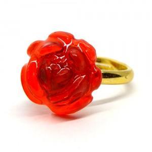 薔薇のゼリィの指輪赤1