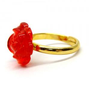 薔薇のゼリィの指輪赤2