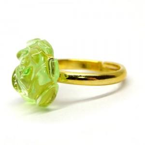 薔薇のゼリィの指輪緑2