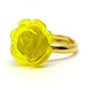 薔薇のゼリィの指輪黄1