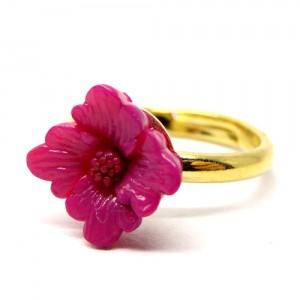 お花の指輪紫