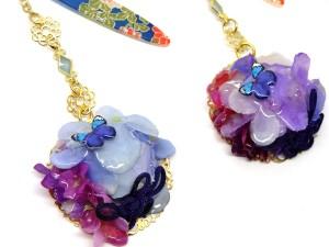 紫陽花の帯留と根付2