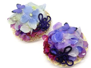 紫陽花の帯留と根付3